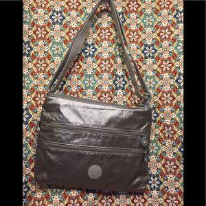 Kipling's 5  Zipper Coated Nylon Crossbody Bag